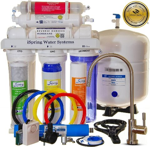 iSpring RCC7AK WQA Certified Reverse Osmosis 6 Stages 75GPD Under Sink Water Filter Review