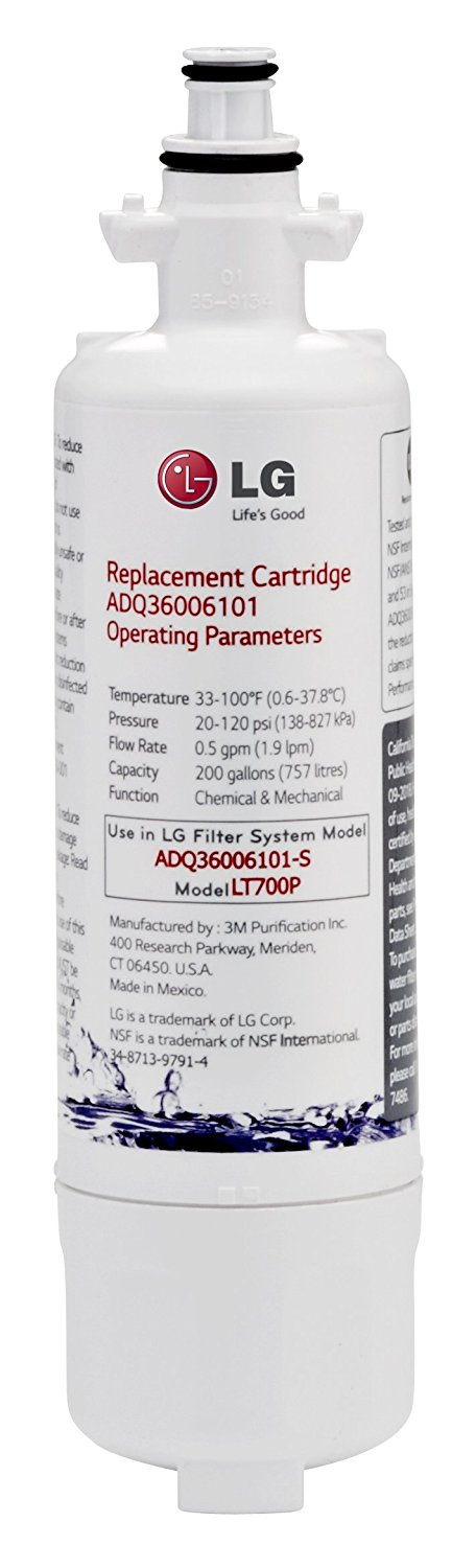 LG LT700P Replacement 200 Gallon Capacity Refrigerator Water Filter