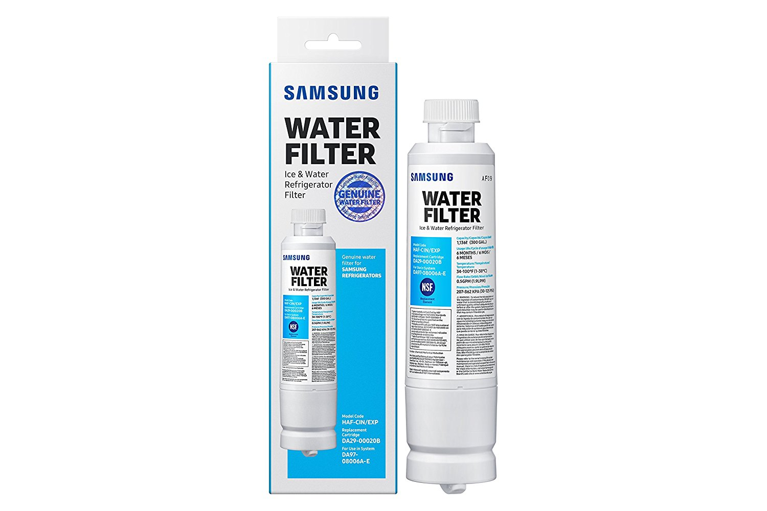 Samsung model HAF-CIN-EXP Refrigerator Water Filter
